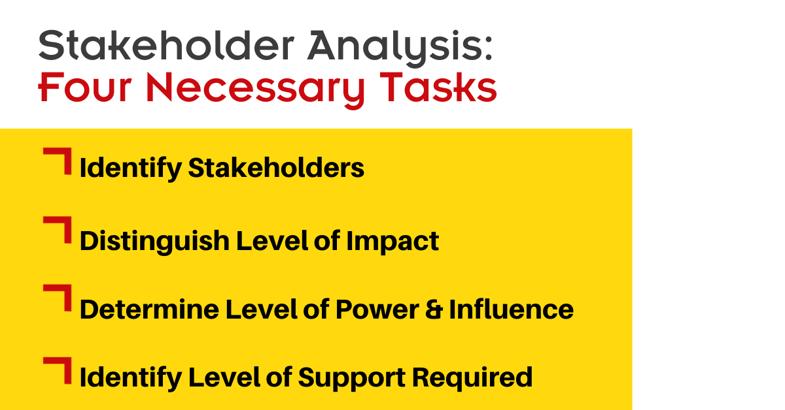 stakeholder analysis tasks
