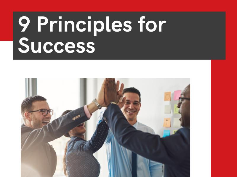 9 principles for success
