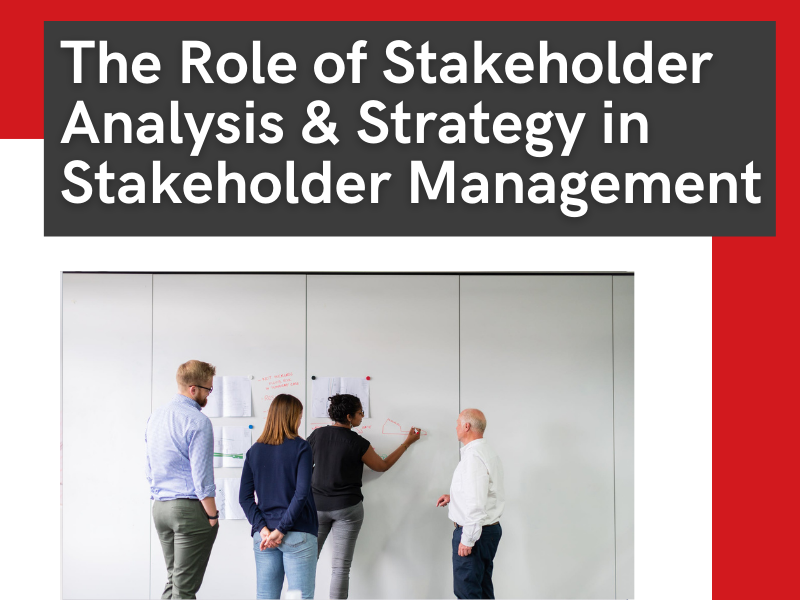 the role of stakeholder analysis & strategy in stakeholder management